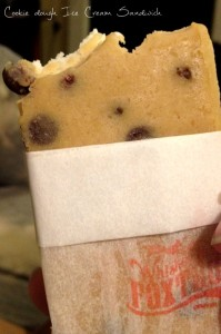 Cookie Dough Ice Cream Sandwich