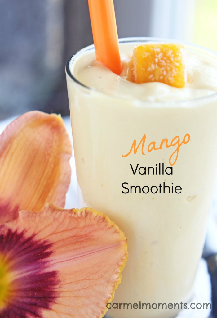 Mango Vanilla Smoothie via Carmel Moments