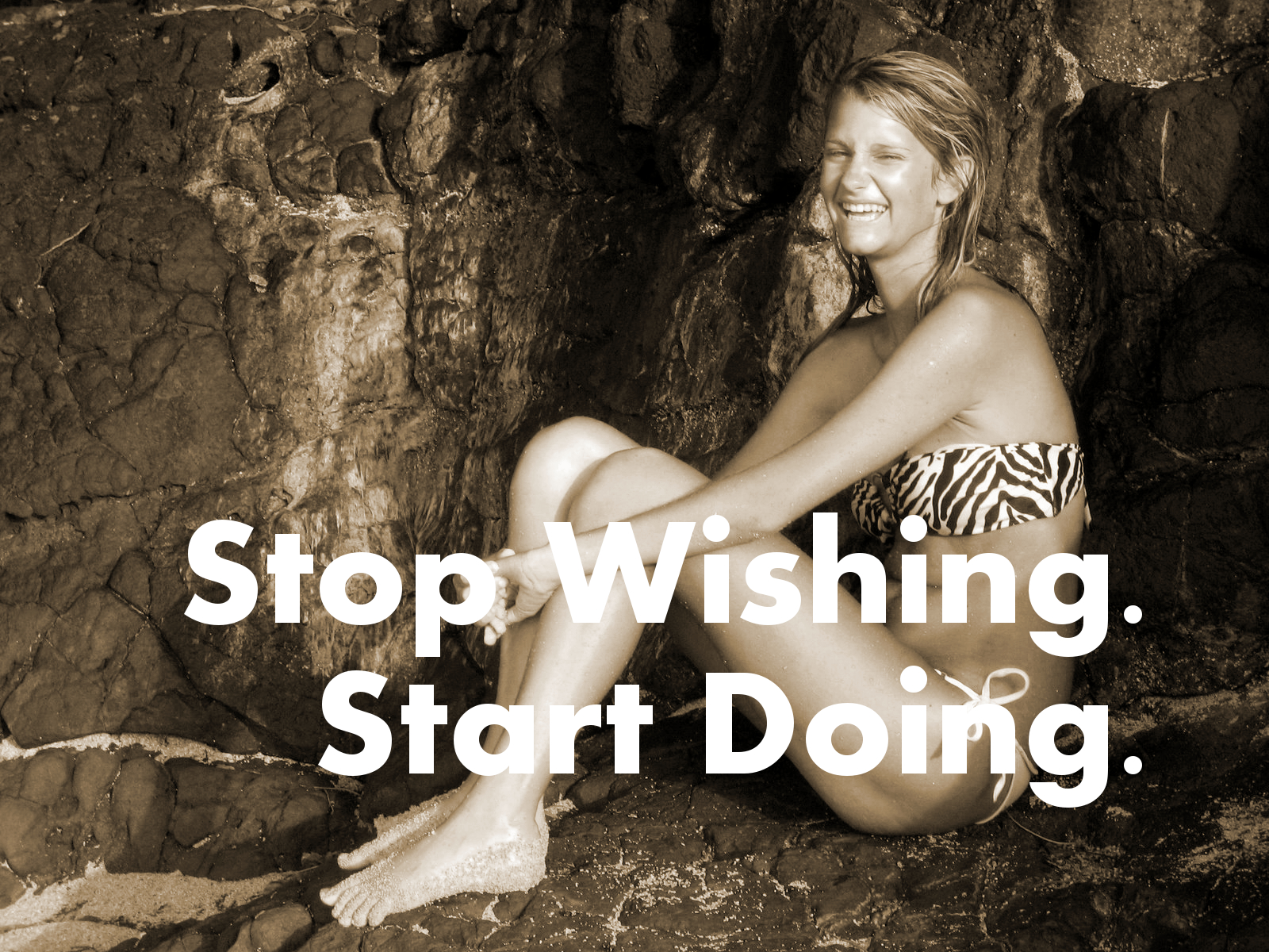 Stop Wishing Start Doing. Fitness Motivation.