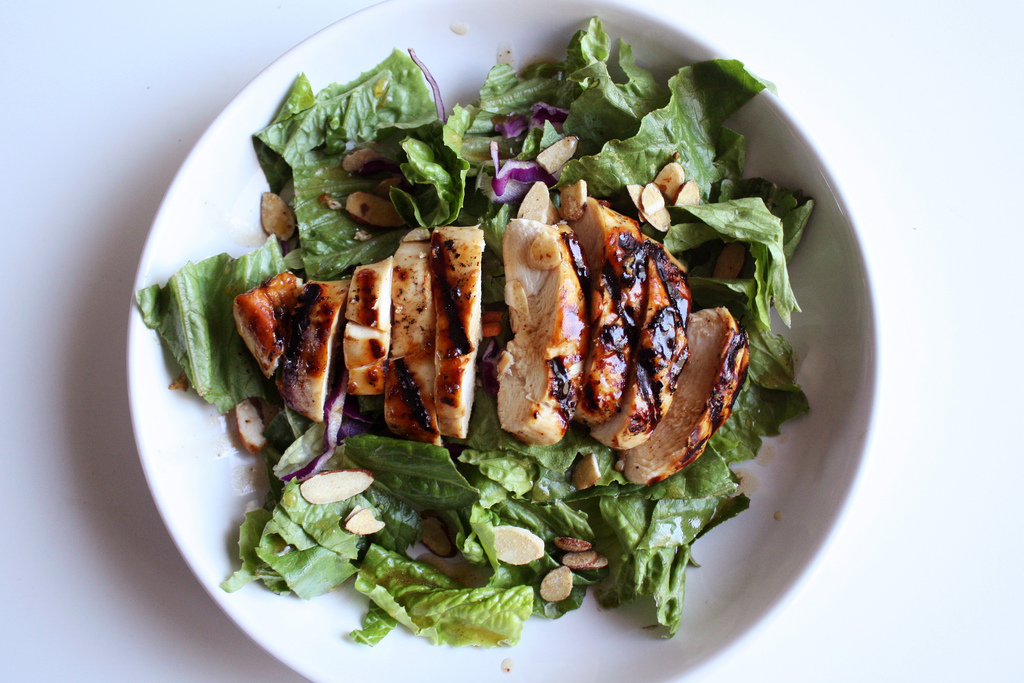 Teriyaki Chicken and Almond Salad