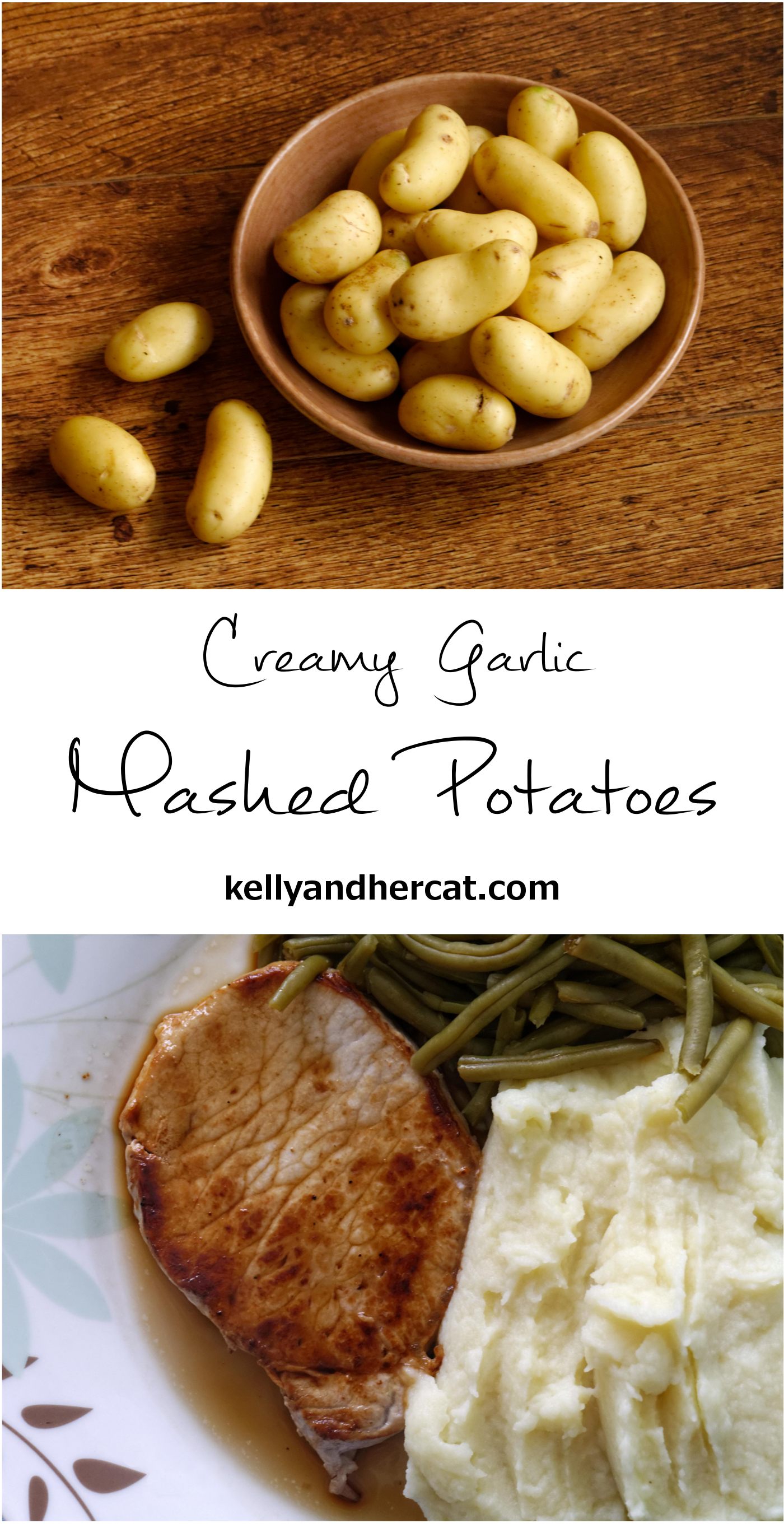 Creamy Garlic Mashed Potatoes... the best mashed potato recipe on Pinterest- SO creamy!